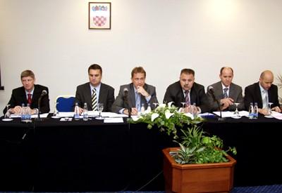 Igor Malý, Zdenko Mičić, Božidar Kalmeta, Ivan Šuker, Branko Bačić, Dražen Breglec - na sjednici Povjerenstva