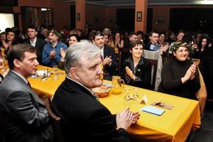 Gradonačelnik Vinkovaca i župan Vukovarsko-srijemski na Cibalitanskoj noći (foto: Gordan Panić, Večernji list)
